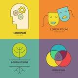 Λογότυπο ψυχολογίας απεικόνιση αποθεμάτων