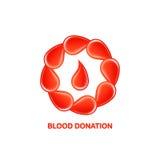 Λογότυπο δωρεάς αίματος Στοκ φωτογραφία με δικαίωμα ελεύθερης χρήσης