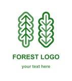 Λογότυπο δύο κωνοφόρο δασικών δέντρων Στοκ Φωτογραφία