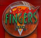λογότυπο δάχτυλων κολλώδες Στοκ φωτογραφίες με δικαίωμα ελεύθερης χρήσης