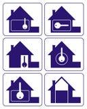 λογότυπο 2 σπιτιών στοκ εικόνες