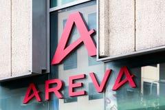 Λογότυπο Areva σε έναν τοίχο Στοκ Φωτογραφίες