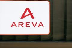 Λογότυπο Areva σε έναν τοίχο Στοκ Εικόνα
