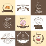 Λογότυπο badges2 αρτοποιείων Απεικόνιση αποθεμάτων