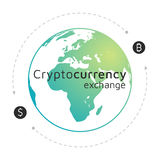 Λογότυπο Bitcoin και δολαρίων Ανταλλαγή Cryptocurrency EPS10 Απεικόνιση αποθεμάτων