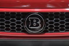 Λογότυπο Brabus - επίδειξη μηχανών της Γενεύης 2012 Στοκ Φωτογραφίες