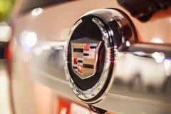 Λογότυπο Cadillac σε ένα αυτοκίνητο Στοκ φωτογραφίες με δικαίωμα ελεύθερης χρήσης