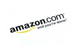 λογότυπο COM της Αμαζώνας στοκ φωτογραφίες με δικαίωμα ελεύθερης χρήσης