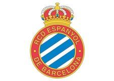 Λογότυπο Deportiu Espanyol de Βαρκελώνη λεσχών Reial διανυσματική απεικόνιση