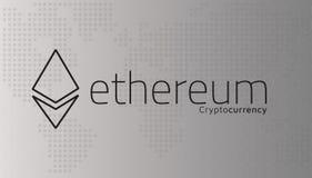 Λογότυπο Ethereum και διαστιγμένος παγκόσμιος χάρτης Διάνυσμα Editable EPS10 Διανυσματική απεικόνιση