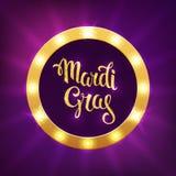 Λογότυπο gras της Mardi Στοκ Εικόνα
