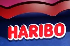 Λογότυπο Haribo σε έναν τοίχο στοκ εικόνες