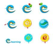 Λογότυπο logo/E-εκμάθησης εξερευνητών Στοκ Φωτογραφία