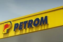 Λογότυπο Petrom στοκ φωτογραφία με δικαίωμα ελεύθερης χρήσης