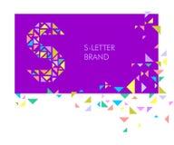Λογότυπο S επιστολών τριγώνων Στοκ φωτογραφία με δικαίωμα ελεύθερης χρήσης