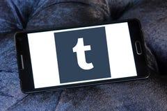 Λογότυπο Tumblr Στοκ Φωτογραφία
