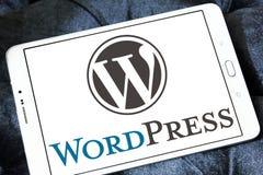 Λογότυπο WordPress Στοκ φωτογραφία με δικαίωμα ελεύθερης χρήσης