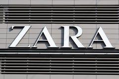 Λογότυπο Zara Στοκ φωτογραφία με δικαίωμα ελεύθερης χρήσης