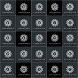 Λογότυπων διανυσματικό σύνολο ροζέτων προτύπων γεωμετρικό Στοκ Εικόνες