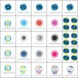 Λογότυπων στοιχείων διανυσματικό σύνολο ροζέτων προτύπων γεωμετρικό Στοκ Φωτογραφία