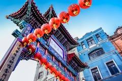 Λονδίνο/Αγγλία: 02 07 2017 πύλη εισόδων στην κινεζική περιοχή στο Λονδίνο Στοκ Εικόνες