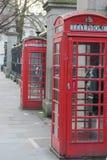 Λονδίνο, Ηνωμένο Βασίλειο, στις 17 Φεβρουαρίου 2018: Παραδοσιακό κόκκινο τηλεφωνικό κιβώτιο του Λονδίνου Στοκ Εικόνα