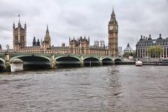 Λονδίνο στη βροχή Στοκ Εικόνες