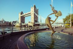 15/10/2017 Λονδίνο, UK, άποψη της γέφυρας πύργων Στοκ Φωτογραφία