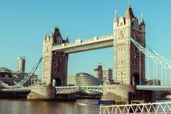 15/10/2017 Λονδίνο, UK, γέφυρα πύργων Στοκ Εικόνα
