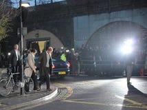 Λονδίνο UK 9 Ιανουαρίου 2018 Ο πρίγκηπας Harry και Meghan Markle επισκέπτεται το ραδιόφωνο Reprezent σε ΛΑΪΚΟ Brixton για να δει  Στοκ Εικόνα