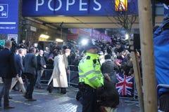 Λονδίνο UK 9 Ιανουαρίου 2018 Ο πρίγκηπας Harry και Meghan Markle επισκέπτεται το ραδιόφωνο Reprezent σε ΛΑΪΚΟ Brixton για να δει  Στοκ Φωτογραφίες