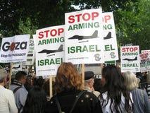 Λονδίνο UK - 5 Ιουνίου 2018: Οι άνθρωποι στην ελεύθερη Παλαιστίνη †«σταματούν Στοκ Εικόνες