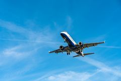 Λονδίνο, UK - 17, το Φεβρουάριο του 2019: Το BA CityFlyer μια εν πλήρη κυριότητα θυγατρική αερογραμμή της British Airways βάσισε  στοκ εικόνες