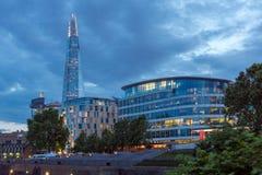 ΛΟΝΔΙΝΟ, ΑΓΓΛΙΑ - 15 ΙΟΥΝΊΟΥ 2016: Φωτογραφία νύχτας του ουρανοξύστη Shard, Λονδίνο, Αγγλία Στοκ Φωτογραφία