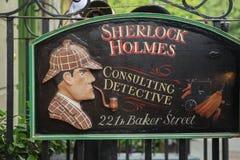 ΛΟΝΔΙΝΟ - 24 ΑΥΓΟΎΣΤΟΥ 2017: Το μουσείο Sherlock Holmes στοκ εικόνα με δικαίωμα ελεύθερης χρήσης
