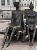 ΛΟΝΔΙΝΟ - 3 ΦΕΒΡΟΥΑΡΊΟΥ: Άγαλμα σε Docklands Λονδίνο στις 3 Φεβρουαρίου, Στοκ φωτογραφίες με δικαίωμα ελεύθερης χρήσης