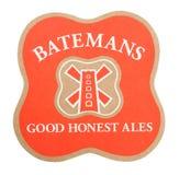 ΛΟΝΔΙΝΟ, UK - 22 ΑΥΓΟΎΣΤΟΥ 2018: Καλός τίμιος ακτοφύλακας μπύρας αγγλικών μπυρών Batemans beermat που απομονώνεται στο άσπρο υπόβ στοκ εικόνες