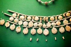 29 07 2015, ΛΟΝΔΙΝΟ, UK, ΒΡΕΤΑΝΙΚΌ ΜΟΥΣΕΊΟ - αιγυπτιακά κοσμήματα Στοκ φωτογραφίες με δικαίωμα ελεύθερης χρήσης
