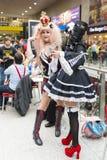 ΛΟΝΔΙΝΟ, UK - 26 ΟΚΤΩΒΡΊΟΥ: Cosplayers Anime στο Comicon Στοκ φωτογραφία με δικαίωμα ελεύθερης χρήσης