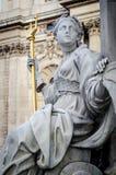 Λονδίνο, άγαλμα της βασίλισσας Anne, καθεδρικός ναός του ST Paul Στοκ Εικόνες