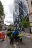 Λονδίνο, Αγγλία - 18 Ιουνίου 2016: Καταπληκτική άποψη του επιχειρησιακού κτηρίου στην πόλη του Λονδίνου Στοκ Εικόνα