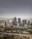Λονδίνο, Αγγλία - 11 Μαΐου 2015 Canary Wharf Στοκ εικόνα με δικαίωμα ελεύθερης χρήσης