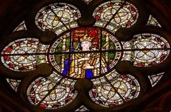 Λονδίνο Αγγλία μοναστήρι του Westminster γυαλιού βασίλισσας Victoria Stained Στοκ εικόνες με δικαίωμα ελεύθερης χρήσης