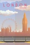 Λονδίνο Διανυσματική αφίσα ελεύθερη απεικόνιση δικαιώματος