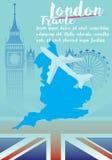 Λονδίνο, επίπεδη έννοια ταξιδιού σχεδίου εικονιδίων Στοκ Εικόνες