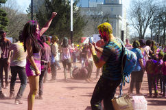 Λονδίνο Οντάριο, Καναδάς - 16 Απριλίου: Μη αναγνωρισμένος νέος ζωηρόχρωμος Στοκ Φωτογραφία