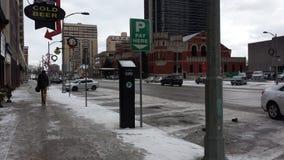 Λονδίνο Οντάριο, Καναδάς - 11 Ιανουαρίου 2016: Μηχανή πληρωμής για το π Στοκ Φωτογραφίες