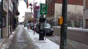 Λονδίνο Οντάριο, Καναδάς - 11 Ιανουαρίου 2016: Μηχανή πληρωμής για το π Στοκ Φωτογραφία