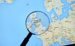 Λονδίνο στους χάρτες Google Στοκ φωτογραφία με δικαίωμα ελεύθερης χρήσης