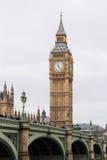 Λονδίνο Big Ben μια θλιβερή ημέρα στοκ εικόνες